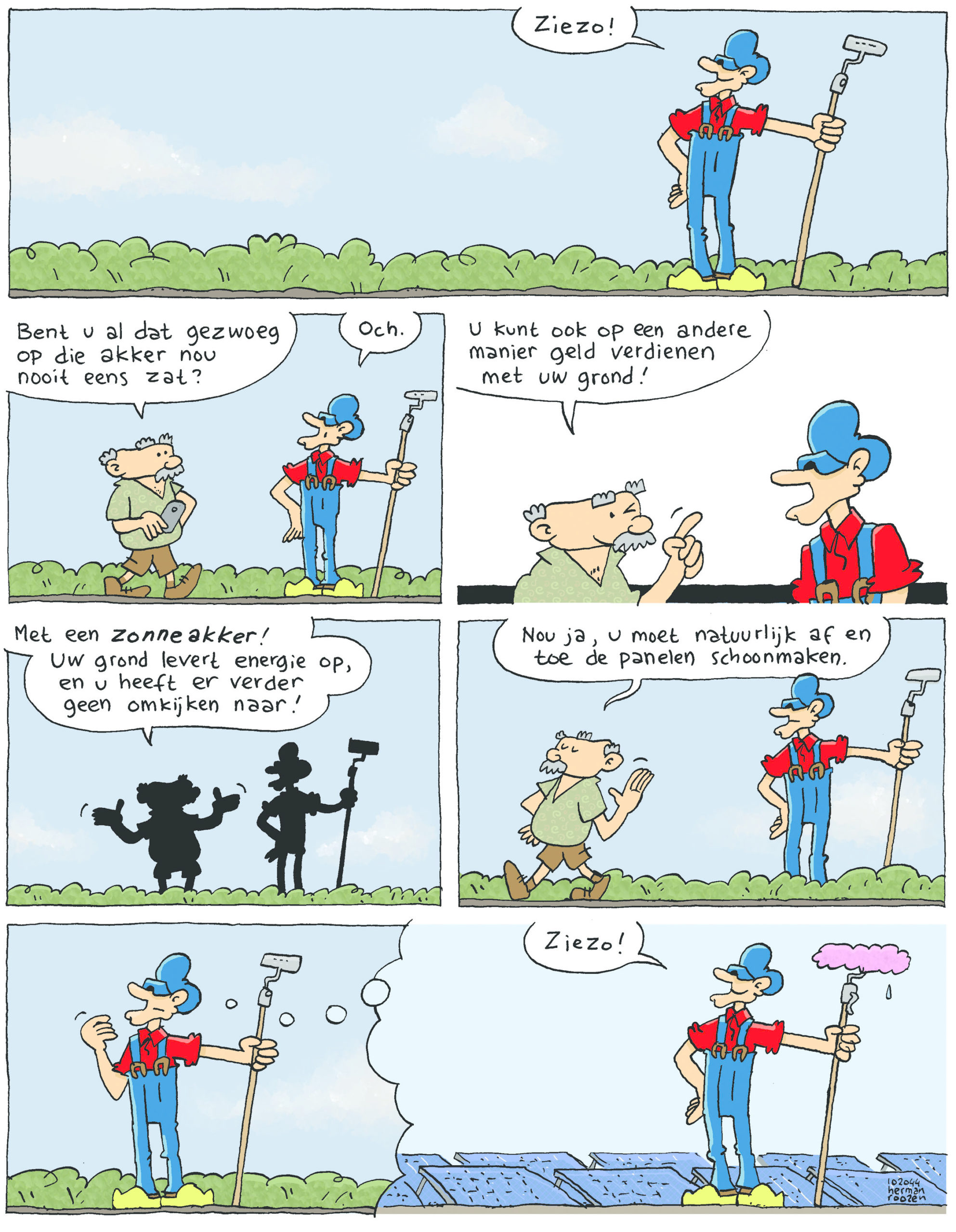 Opa krijgt advies over zijn grond