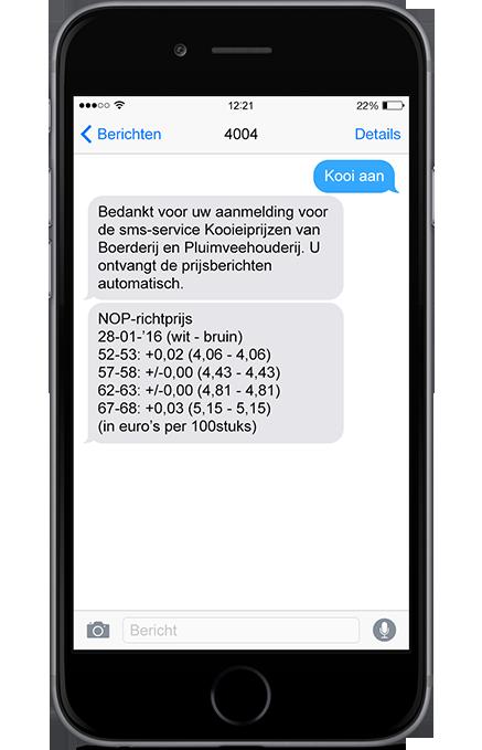 SMS Kooieiprijzen