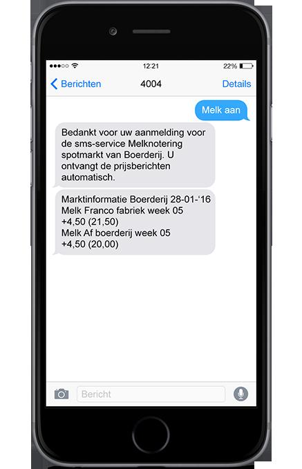 SMS Melknotering