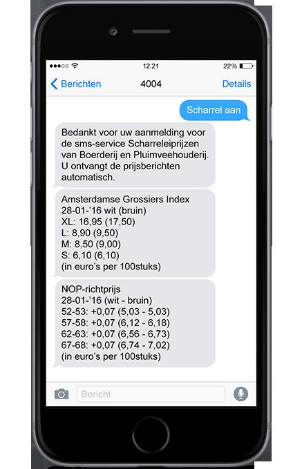 SMS Scharreleiprijzen