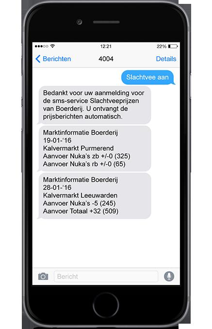 SMS Slachtveeprijzen