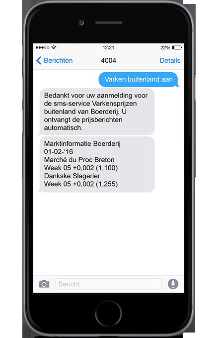 SMS Varkensprijzen buitenland