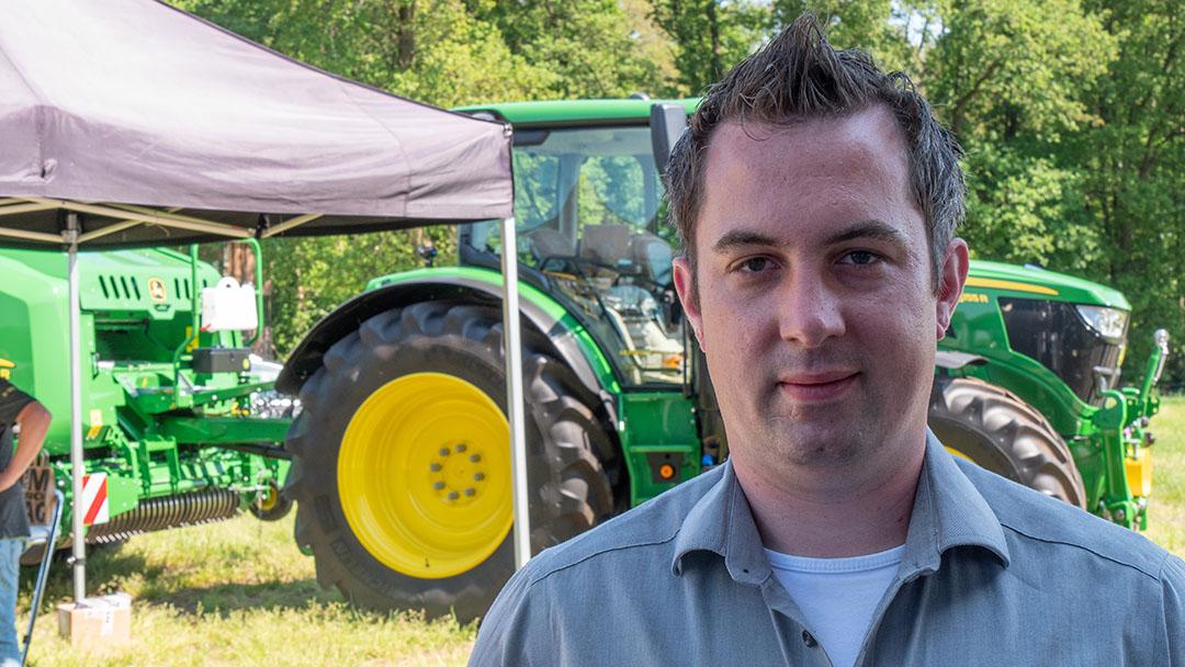 Mark Beunk van FarmSight: NIR-sensor op de oogstmachine biedt kans voor optimalisatie grasteelt.