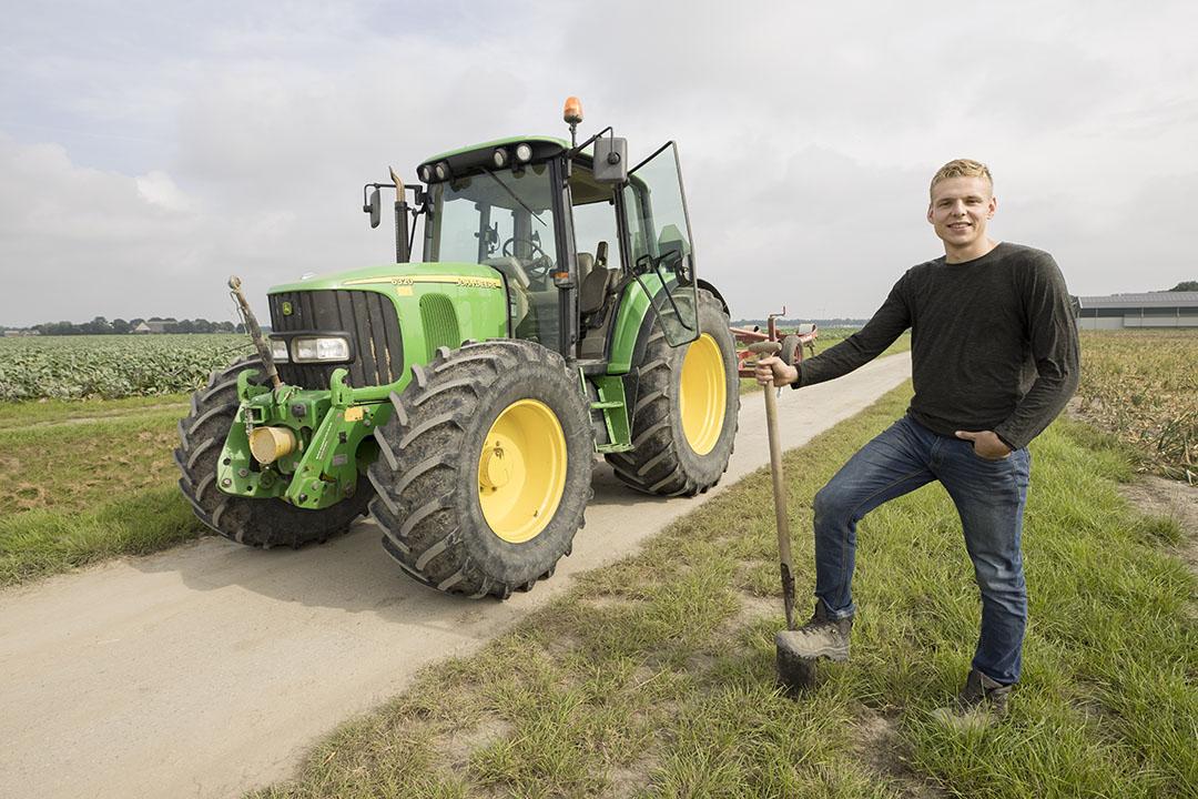 Het bedrijf heeft 58 hectare in gebruik maar Leon spreekt liever van grond waarover hij en zijn ouders rentmeesters mogen zijn.