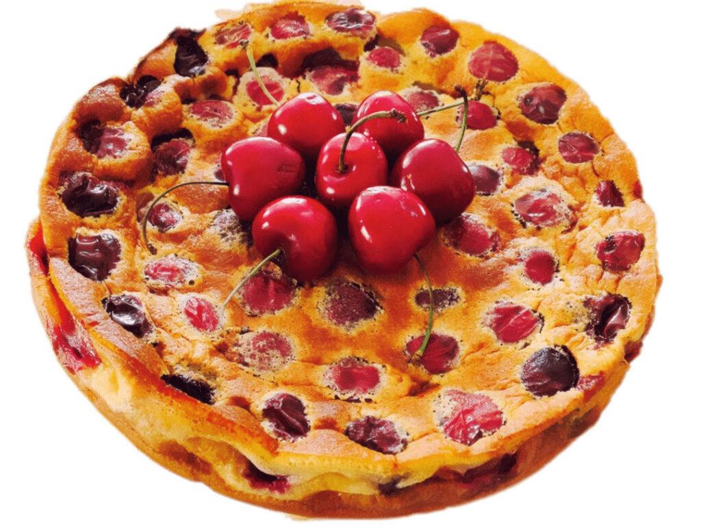 Kersenstruif is een soort dikke pannenkoek boordevol kersen.
