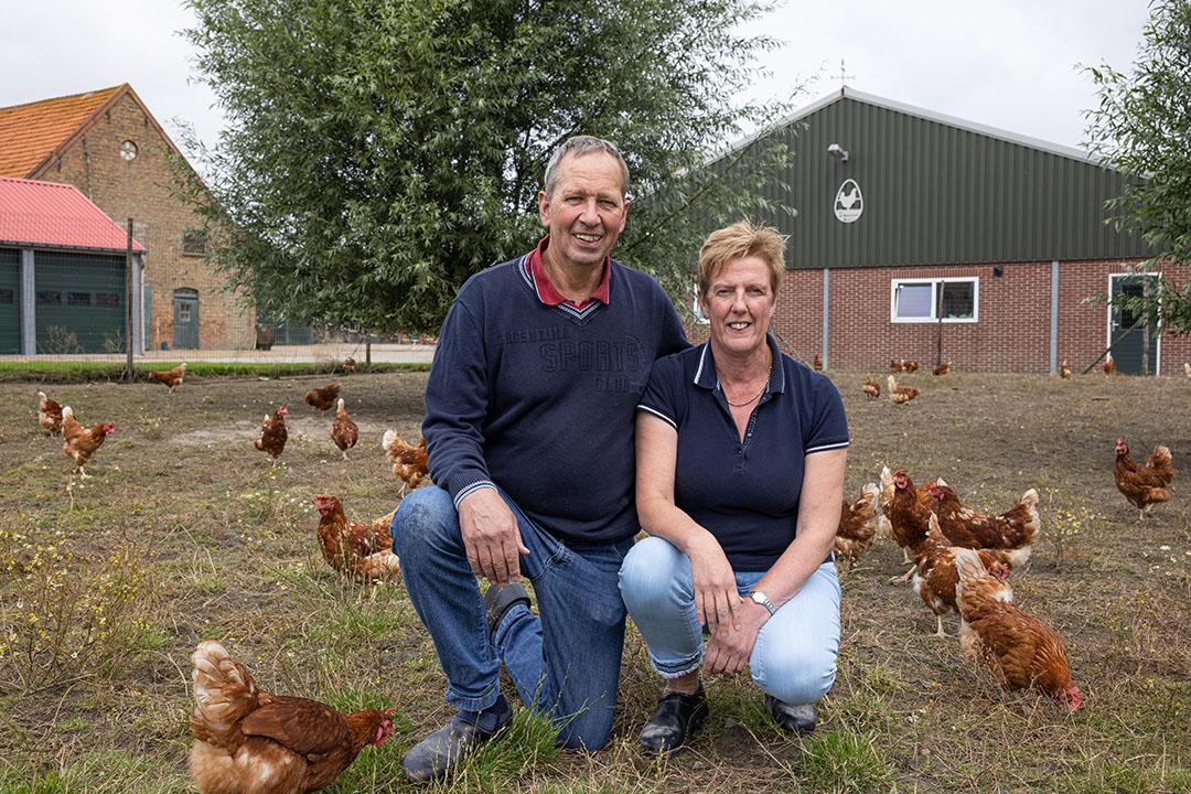 Carla samen met haar man André (62).